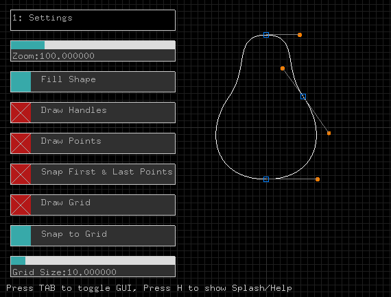 Bézier Shape Editor/Animator screenshot